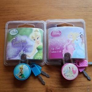 Disney mini key locks, pink and blue (2)